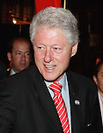 Former US president Bill Clinton egresses after speaking to a crowd of Hillary Clinton supporters that had assembled to watch the televised CNN debate between Democratic presidential candidates Hillary Clinton and Barack Obama, Feb. 21, 2008, at Sunset Station, San Antonio, Texas. (Darren Abate/PressPhotoIntl.com)