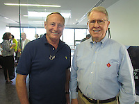 Recently retired nephrologist Dr. David Crittenden catches up with friend Jim Johnson.
