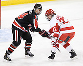 Stephanie Gavronsky (NU - 44), Jill Cardella (BU - 22) - The Northeastern University Huskies tied Boston University Terriers 3-3 in the 2011 Beanpot consolation game on Tuesday, February 15, 2011, at Conte Forum in Chestnut Hill, Massachusetts.