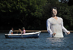 08/07/2013 - Mr Darcy in the Serpentine - Hyde Park - London - UK