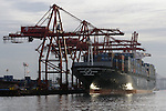 Port of Seattle, cranes, container ships.   Jim Bryant Photo. ©2010. All Rights Reserved.
