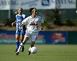 Marinette Pichon (11) at SAS Stadium in Cary, North Carolina on 8/9/03 during a game between the Carolina Courage and Philadelphia Charge. The game ended in a 1-1 tie.