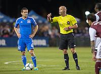 Santa Clara, California - Saturday, October 9, 2013: San Jose Earthquakes defeated Colorado Rapids 1 - 0 at Buck Shaw Stadium