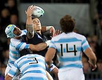 Rugby World Cup Auckland  New Zealand v Argentina Quarter Final 4 - 09/10/2011. Sonny Bill Williams (New Zealand)    .Photo Frey Fotosports International/AMN Images
