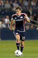 Kelyn Rowe (11) New England Revolution midfielder in action... Sporting Kansas City defeated New England Revolution 3-0 at LIVESTRONG Sporting Park, Kansas City, Kansas.
