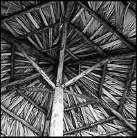 Parasol, Santa Maria Beach, Cuba | Black &amp; White
