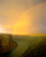 Rainbow at Red Canyon, Flaming Gorge National Recreation Area, Utah