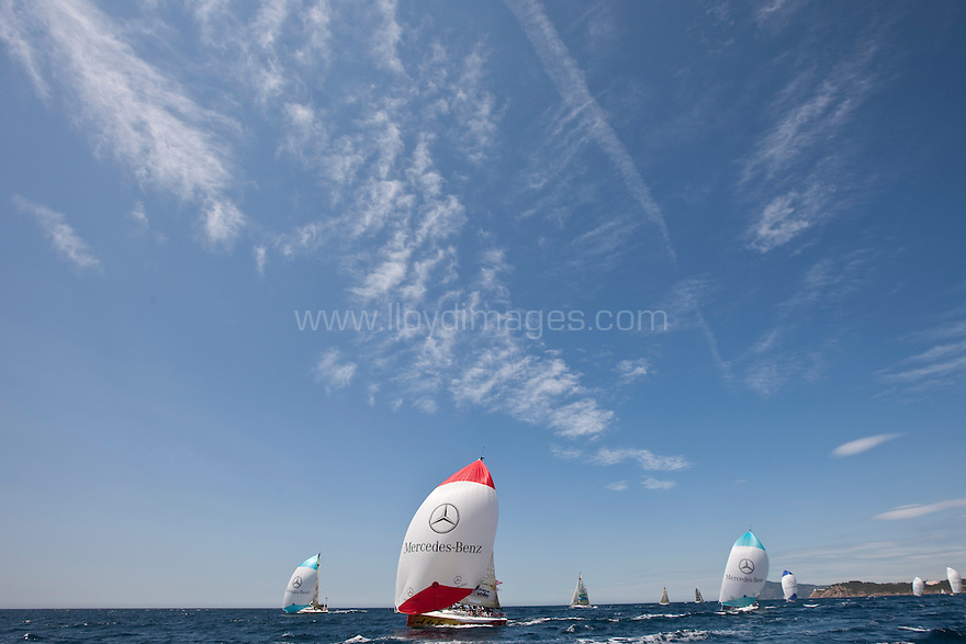 The Tour de France a la Voile fleet..Credit: Lloyd Images