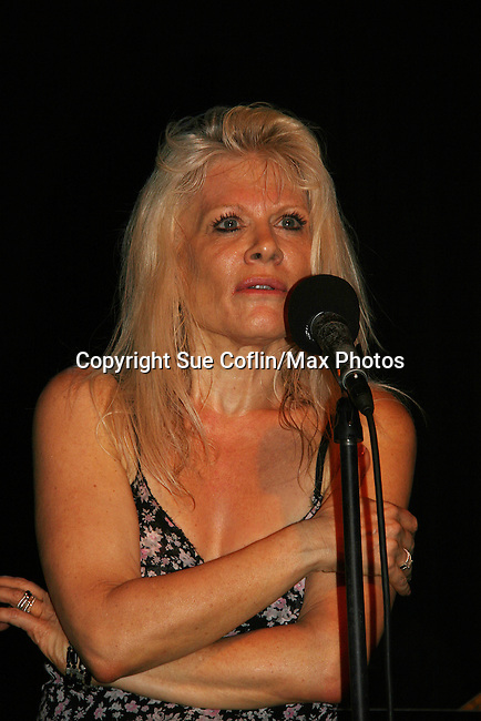 """One Life To Live's Ilene Kristen """"Roxy"""" performs her show on her birthday, July 30, 2009 at The Triad, New York City, New York before actors, friends, fans and family. (Photo by Sue Coflin/Max Photos)"""