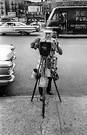 Bronx, New York City, NY - Summer of 1966 <br /> On Fox Street in the Bronx, a street photographer in action.