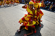 Colombian girls dance Mapale during the Carnival in Barranquilla, Colombia, 27 February 2006. The Carnival of Barranquilla is a unique festivity which takes place every year during February or March on the Caribbean coast of Colombia. A colourful mixture of the ancient African tribal dances and the Spanish music influence - cumbia, porro, mapale, puya, congo among others - hit for five days nearly all central streets of Barranquilla. Those traditions kept for centuries by Black African slaves have had the great impact on Colombian culture and Colombian society. In November 2003 the Carnival of Barranquilla was proclaimed as the Masterpiece of the Oral and Intangible Heritage of Humanity by UNESCO.