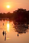 Columbia Ranch, Brazoria County, Damon, Texas; sunrise over Lake Glen