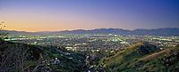San Fernando Valley, San Gabriel Mountains, Dusk, Twilight