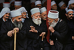 LEBANON-10067, Lebanon, Druze Elders, 03/1982<br />