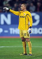 FUSSBALL   1. BUNDESLIGA  SAISON 2011/2012   12. Spieltag FC Augsburg - FC Bayern Muenchen         06.11.2011 Torwart Mohamed Amsif (FC Augsburg)
