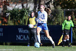 24 November 2013: Duke's Kara Wilson. The University of Arkansas Razorbacks played the Duke University Blue Devils at Koskinen Stadium in Durham, NC in a 2013 NCAA Division I Women's Soccer Tournament Third Round match. Duke advanced by winning the penalty kick shootout 5-3 after the game ended in a 2-2 tie after overtime.