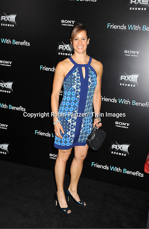 """Jenna Wolfe attending the New York Premiere of """"Freinds With Benefits"""" on July 18, 2011 at The Ziegfeld Theatre in New York City. The movie stars Justin Timberlake, Mila Kunis, Emma Stone, Patricia Clarkson, Jenna Elfman and Bryan Greenberg."""