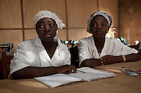 Parakou,Benin. December 2009. At the Amy Pascale Centre teenagers are given the oppotunity to do professional tailoring courses. This gives them formal recognition of their skills and allow them to better negotiate a job or start out on their own. This is a great scheme to help make Benin's poorest children less vulnerable to exploitation, abuse and trafficking.