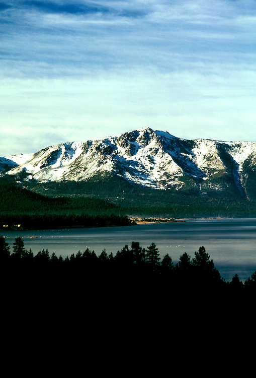 California: Lake Tahoe.  View from Emerald Bay.  Photo cataho104..Photo copyright Lee Foster, 510/549-2202, lee@fostertravel.com, www.fostertravel.com.