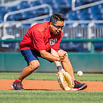 28 May 2016: Washington Nationals Medical Staff Assistant John Hsu warms up prior to a game against the St. Louis Cardinals at Nationals Park in Washington, DC. The Cardinals defeated the Nationals 9-4 to take a 2-games to 1 lead in their 4-game series. Mandatory Credit: Ed Wolfstein Photo *** RAW (NEF) Image File Available ***