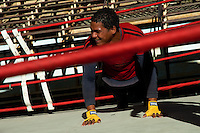 A Cuban boxer doing push-up exercise during a training drill at Rafael Trejo boxing gym in Havana, Cuba, 5 February 2010. During the last 30 years Cuba has produced more World Champions and Olympic gold medallists in amateur boxing than any other country. Many famous fighters, who came out of Cuba, were training at Rafael Trejo boxing gym in their youth. This run down open air facility in the Old Havana is a place of learning and mastering the art of boxing by the old school style. Boys begin their training very young. As sports are given a high political priority in Cuba, all children are systematically encouraged to develop their skills. Those who succeed will become heroes of Cuban society.