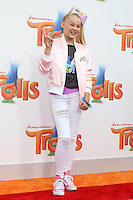 WESTWOOD, CA - OCTOBER 23: JoJo Siwa at the premiere Of 20th Century Fox's 'Trolls' at Regency Village Theatre on October 23, 2016 in Westwood, California. Credit: David Edwards/MediaPunch