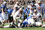 14 October 2006: Florida State's Lawrence Timmons (83) picks up a fumble on the Duke 36 and runs it into the endzone for the game's first score. The Florida State University Seminoles defeated the Duke University Blue Devils 51-24 at Wallace Wade Stadium in Durham, North Carolina in an Atlantic Coast Conference NCAA Division I College Football game.