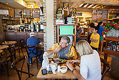 Cary, North Carolina - Saturday September 19, 2015 - La Farm Bakery customers Pete and Diane Spoone have lunch at the bakery the afternoon of Saturday September 19, 2015 in Cary, North Carolina.