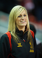 LIVERPOOL, ENGLAND - Thursday, October 4, 2012: Liverpool supporter Scouse Laura during the UEFA Europa League Group A match against Udinese Calcio at Anfield. (Pic by David Rawcliffe/Propaganda)