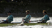 PUTNEY, LONDON, ENGLAND, 05.03.2006, CUBC; Cambridge, No. 2 Tom Edwards; [CUBC 2006 President], No.3 Sebastian Thormann; No 4. Thorsten Englemann;  Pre 2006 Boat Race Fixtures,.   © Peter Spurrier/Intersport-images.com[Mandatory Credit Peter Spurrier/ Intersport Images] Varsity Boat Race, Rowing Course: River Thames, Championship course, Putney to Mortlake 4.25 Miles