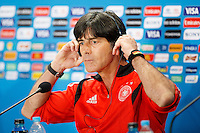 Germany manager Joachim Low during the press conference