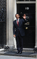 US presidential hopeful Senator Barack Obama leaves No10 Downing Street after talks with Prime Minister Gordon Brown.