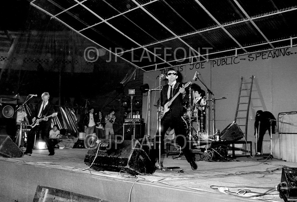 Mont de Marsan, France. August 7th 1977.  Bijou performing at the second edition of the first European Punk Rock Festival at Mont De Marsan.