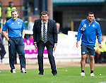 Dundee v St Johnstone...15.08.15  SPFL   Dens Park, Dundee<br /> Tommy Wright screams at his players<br /> Picture by Graeme Hart.<br /> Copyright Perthshire Picture Agency<br /> Tel: 01738 623350  Mobile: 07990 594431