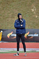 Jordan Peters in action during the Athletics - NZ Track and Field Championships at Newtown Park, Newtown, New Zealand on Friday 6 March 2015. <br /> Photo by Masanori Udagawa. <br /> www.photowellington.photoshelter.com.