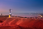 Christo del Pacifico is a new 37 meter high statue of Jesus Christ overlooking the Pacific Ocean on Morro Solar, a headland or cape in the district of Chorrillos in Lima, Peru.