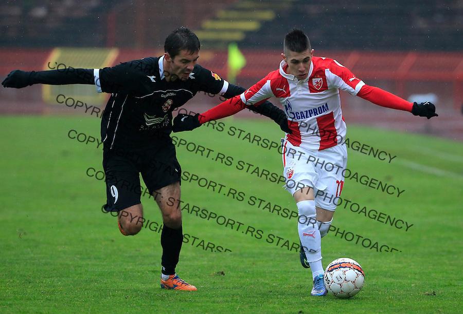 Fudbal Jelen Super League season 2015-2016<br /> Crvena Zvezda v Vozdovac<br /> Srdjan Plavsic and Nikola Cirkovic (L)<br /> Beograd, 28.11.2015.<br /> foto: Srdjan Stevanovic/Starsportphoto&copy;