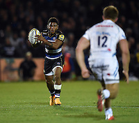 Kyle Eastmond of Bath Rugby in possession. West Country Challenge Cup match, between Bath Rugby and Exeter Chiefs on October 10, 2015 at the Recreation Ground in Bath, England. Photo by: Patrick Khachfe / Onside Images
