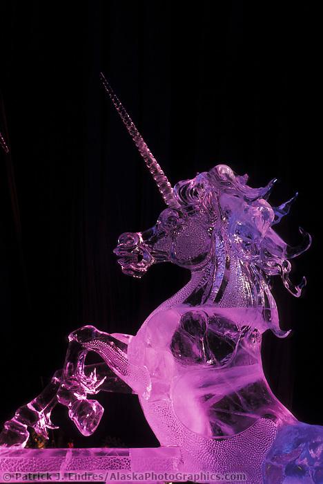 Ice sculpture, Pretender, World Ice Sculpting Competition, Fairbanks, Alaska