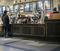 A Starbucks in Rockefeller Center in New York on Friday, February 5, 2016.  (© Richard B. Levine)