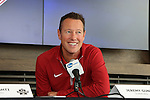 12 December 2015: Stanford head coach Jeremy Gunn. The NCAA held a press conference at Three Points at the Sporting Kansas City offices one day before the Clemson University Tigers play the Stanford University Cardinal in a 2015 NCAA Division I Men's College Cup championship match.
