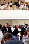 The congregation at Providence Missionary Baptist Church in Atlanta, Georgia August 15, 2010.