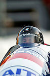 19 November 2005: Patrice Servelle pilots the Monaco 1 sled to a 15th place finish at the 2005 FIBT AIT World Cup Men's 2-Man Bobsleigh Tour at the Verizon Sports Complex, in Lake Placid, NY. Mandatory Photo Credit: Ed Wolfstein.