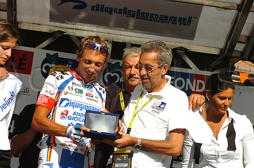 22nd August 2009, Trofeo Melinda, Single Day Cycling Event held annually in Trentino-Alto Adige/Sudtirol, Italy as part of the UCI Europe Tour. Diquigiovanni - Androni Giocattoli, Bertagnolli Leonardo, Brentari Marco, Mal. Photo: Stefano Sirotti/ActionPlus.