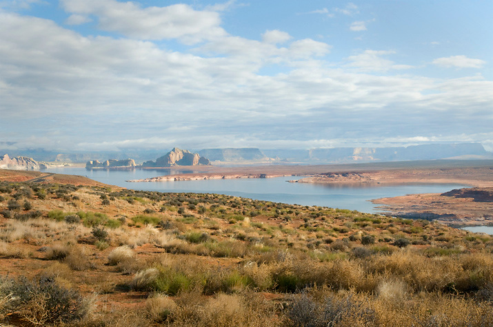 Lake Powell near Wahweap Bay, AZ.
