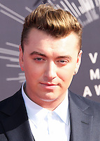 LOS ANGELES, CA, USA - AUGUST 24: Sam Smith at the 2014 MTV Video Music Awards held at The Forum on August 24, 2014 in the Los Angeles, California, United States. (Photo by Xavier Collin/Celebrity Monitor)