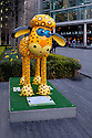 London, UK. 07.04.2015. Shaun the Sheep, charity sculptures, London, UK. Lenny, More London. Photograph © Jane Hobson.