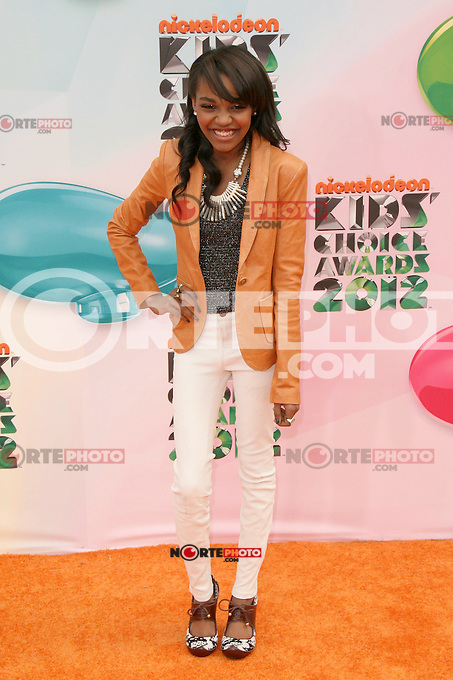 China Anne McClain at Nickelodeon's 25th Annual Kids' Choice Awards at The Galen Center on March 31, 2012 in Los Angeles, California. &copy; mpi26/MediaPunch Inc. /NortePhoto<br />