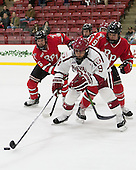Phil Hampton (RPI - 6), Luke Esposito (Harvard - 9), Meirs Moore (RPI - 9) - The Harvard University Crimson defeated the visiting Rensselaer Polytechnic Institute Engineers 5-2 in game 1 of their ECAC quarterfinal series on Friday, March 11, 2016, at Bright-Landry Hockey Center in Boston, Massachusetts.