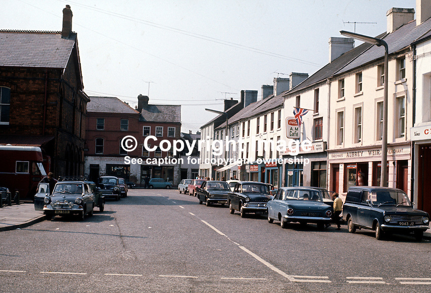 Town centre, Dromore, Co Down, N Ireland, 197109000454b..Copyright Image from Victor Patterson, 54 Dorchester Park, Belfast, United Kingdom, UK...For my Terms and Conditions of Use go to http://www.victorpatterson.com/Victor_Patterson/Terms_%26_Conditions.html